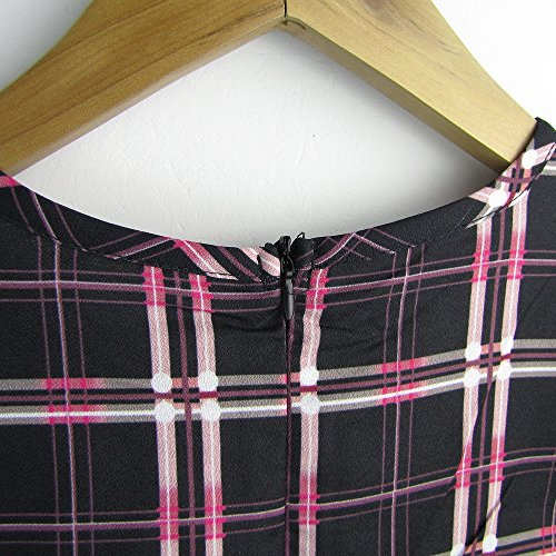 Imixcity®Vêtements sexy femme figure-raccord Plaid jupe porter jupe plastique options base jupe-Plaid robe imprimée deux de couleur (petites et grandes) Café