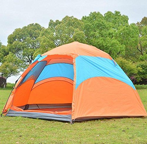 DZW sechseckiges vollautomatisches Zelt 3-4 Personen doppelte Glaszelte regensichere Zelte