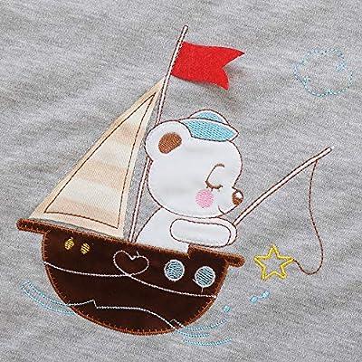 Saco de dormir para bebé, invierno, niño, niña, recién nacido, 2,5 TOG, para niños. Barco gris.