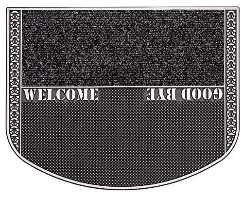 CarFashion 321600B PUR|TwinClean - Fussmatt, Türmatte, Fußabtreter, Schmutzfangmatte, Sauberlaufmatte, Eingangsmatte für Innen und Aussen, Anthrazit-Metallic Oberfläche, Größe ca. 75 x 57 cm