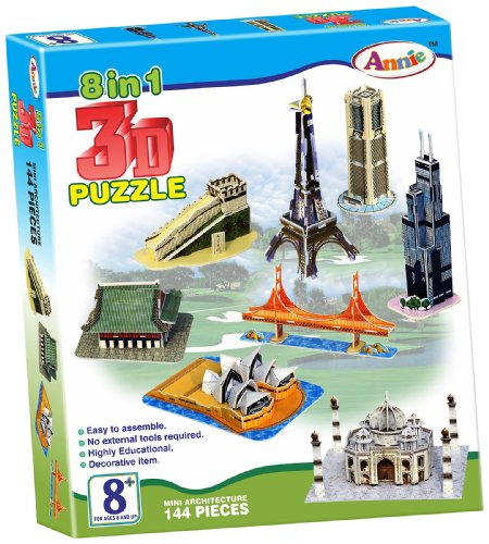 Annie 8 - in- 1 3D Puzzle, Multi Color