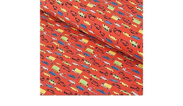 Au m/ètre /à partir de 25 cm x 150 cm Nadeltraum Tissu en Coton Tissu /à Coudre Motif : Cercles French Terry