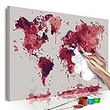 murando - Malen nach Zahlen Weltkarte 60x40cm Malset DIY n-A-0547-d-a