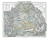 HISTORISCHE KARTE: Großherzogtum SIEBENBÜRGEN, 1853 (Plano) [mit Hermannstadt, Broos, Mühlbach, Reussmarkt, Mediasch, Schässburg, Reps, GrossSchenk, Leschkirch, Kronstadt, Bistritz] - Harald Rockstuhl