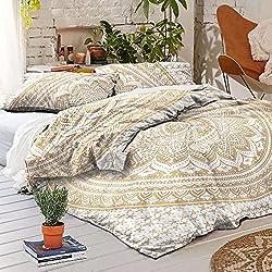 Mandala funda de edredón con fundas de almohada, Indian Boho de estilo bohemio