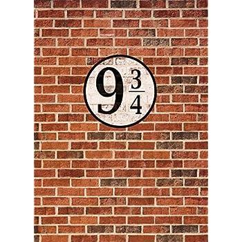 Murs en Briques Poster Papier Peint - Quai Neuf Et Trois Quarts, 2 Parties (250 x 180