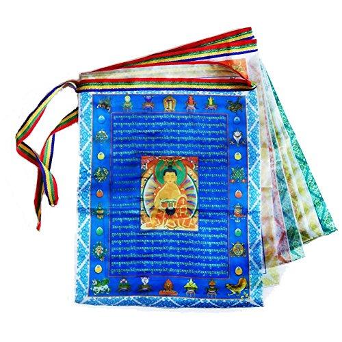 Dieci tibetano scritture bandiere di preghiera buddista tibetano/contenere 10bandiere