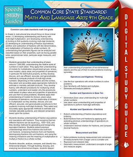 Common Core State Standards: Math And Language Arts 4th Grade: (Speedy Study Guides) (English Edition)
