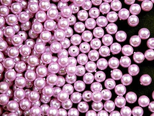 100-piezas-cuentas-de-checa-con-una-perla-recubrimiento-estrela-redondo-4-mm-luz-lila-mate