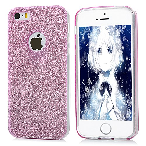 Cover iPhone 5s,5,iPhone SE Custodia Silicone Con Glitter Bling Cover