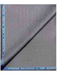 Raymond Superfine Polyviscose Wool Light Grey Colour Unstitched Suit Fabric- 3 Metres