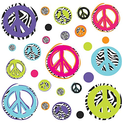 Thedecofactory Zebra Peace Signs Peel and Stick Wandaufkleber -