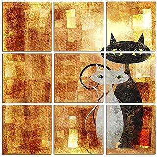 Asir Group LLC 240SUR2666 Square Dekorativ Forex Malerei, bunt