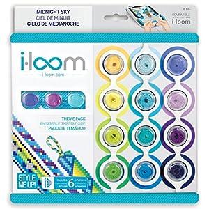 Style Me Up - Kit para hacer pulseras i-loom con 6 diseños exclusivos - Tonos Azules - Pulseras de hilo amigos por siempre - SMU-8026