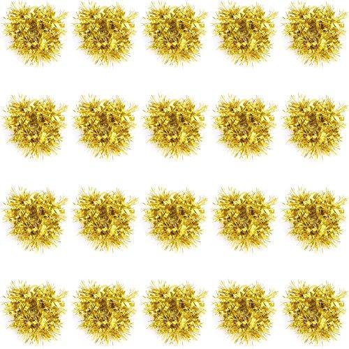 Cheerleading Pompons Schöne Tanz Dekoration Handgelenk Blumen Elastische Cheerleader Kit Cheer Pompons ( Farbe : Gold )