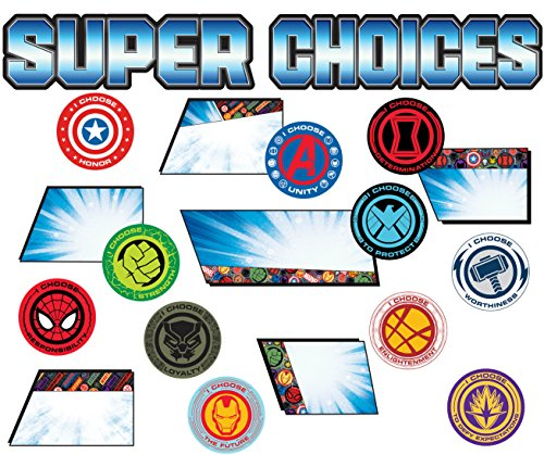 Eureka Mini-Brett für Schule Marvel Superhelden Adventure 'Super Choices', 35 Stück, 15,2 x 53,3 cm - Eureka Mini
