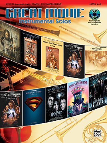 Great Movie Instrumental Solos for Strings: Violin (Includes Pull-Out String Part), Book, CD & Instrumental Part