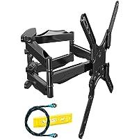 Invision Support TV Mural pour Écrans de 24 à 55 Pouces (61-140 cm), Max VESA 400x400mm, Inclinable Orientable Étendre…