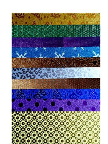 Anshartandcraft Holographic Printed Paper Sheet: Pack of 10 Pcs (Holographic Printed Paper Sheet)