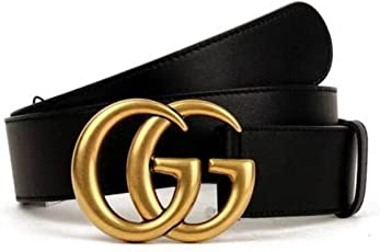 Original authentische Mode Boutique Doppel G Gold Schnalle Männer und Frauen Gürtel
