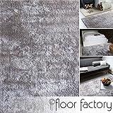 Alfombra moderna Delight gris argentado 160x230cm - alfombra noble suave y sedosa