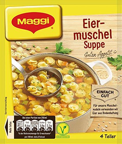 Maggi Guten Appetit Suppe Eiermuschel, 22er Pack (22 x 51 g)