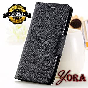 Nokia/Microsoft Lumia 540 Original Faux Leather Plastic Black High-quality Flip cover By Yora