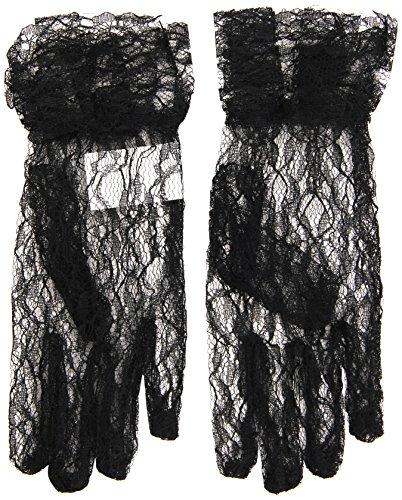 Widmann s.r.l. Schwarze Spitzen-Handschuhe für Damen