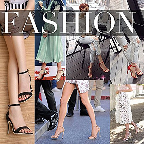 Damenschuhe Open Toe Mehrfarbig Sandalen High-Heels Stiletto Riemchen Lack Rosa