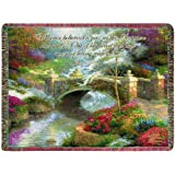 Manual Woodworkers and Weavers Inspirational Collection Tapestry Throw with Verse, 60 by 50-Inch