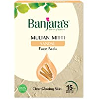 Banjara's Multani Mitti + Sandal Face Pack Powder(100 gm) , Pack of 1