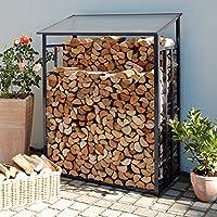 Beckmann KHLG Kaminholz-Lager Größe 1 128 x 69 x 162 cm Anthrazitgrau