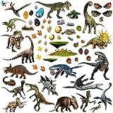 Dinosaures Autocollants Stickers muraux Enfant Chambre Pour Garçons Et Filles Multicolore Pépinière Taille 6 A4 Feuilles