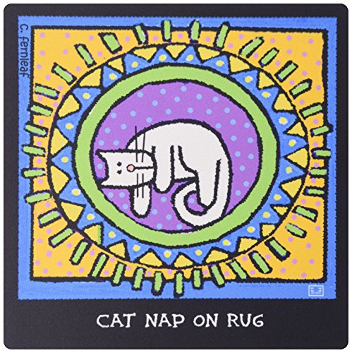 3drose LLC 20,3x 20,3x 0,6cm Maus Pad, Cat Nap auf Teppich, Cartoon Katzen, Katzen, Kätzchen, Lustige Katzen,. Haustiere, Funny Pets, Tiere (MP _ 36674_ 1) (Pet Nap Katzen)