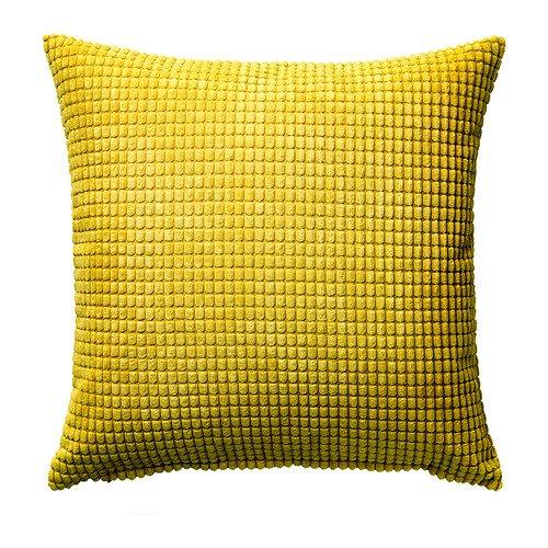 IKEA Kissenbezug GULLKLOCKA Chenille 50 x 50 cm 2 Farben (gelb) (Kissenbezüge Ikea)