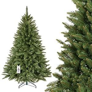 fairytrees k nstlicher weihnachtsbaum fichte natur gr ner stamm material pvc inkl. Black Bedroom Furniture Sets. Home Design Ideas