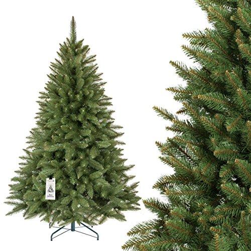 FairyTrees künstlicher Weihnachtsbaum FICHTE Natur, grüner Stamm, Material PVC, inkl....