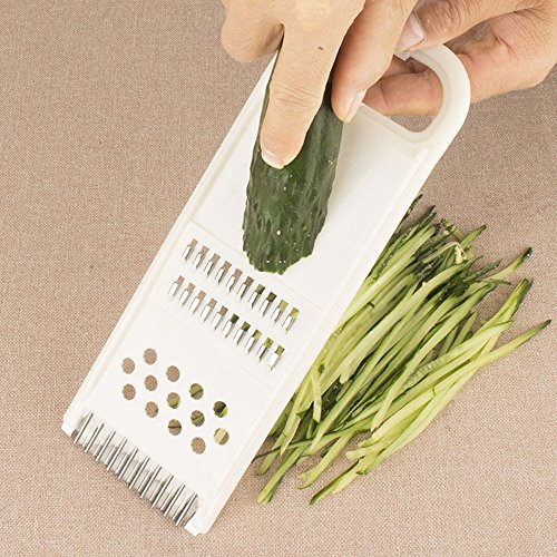 LIUYUNE,Multifunktions-Slicer Gemüsemühle Fruit Peeler Kitchen Tool(color:WEISS)