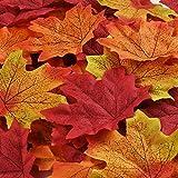 150 Stück Ahorn Blätter Künstliche Ahorn Blätter Autumn Herbst Maple Leaf für Kunst Scrapbooking Hochzeit Haus Dekorationen Weihnachtsfeier oder Erntedankfest Tag Deko (Mehrfarbig)
