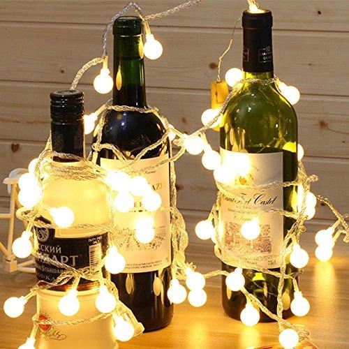 Luces decorativas de fondo de la habitación LED pequeñas bolas Linternas de luz Balón de balonmano Luces intermitentes , red