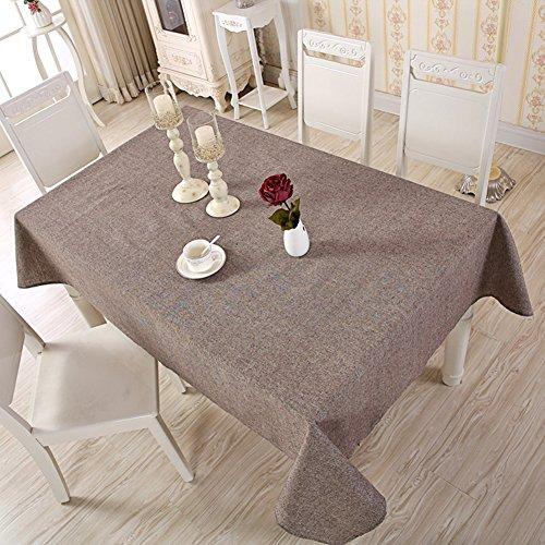 Tovaglia rettangolare in lino e cotone 120 x 120 cm coffee