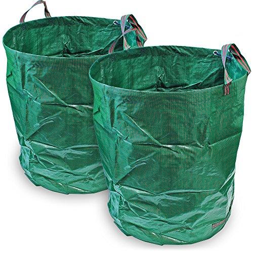 CampTeck 2x 500 Litros Bolsa Jardín Residuos Polipropileno