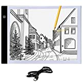 Caja de luz de seguimiento A4, 9x12 pulgadas almohadilla de luz Ultrafina Mesa de luz de alimentación USB solo 5mm para artistas, dibujo, bocetos, animación