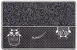CarFashion 322360A PUR|DualClean – Fussmatte | Türmatte | Fußabtreter | Schmutzfangmatte | Sauberlaufmatte  |Eingangsmatte | für Innen und Aussen | Anthrazit-Metallic Oberfläche | Scraper-Noppen mit Textilbelag | Größe ca. 59 x 39 cm
