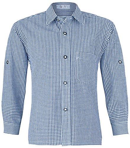 Marineblau kariert Gr. 128 (Trachten Shirts)