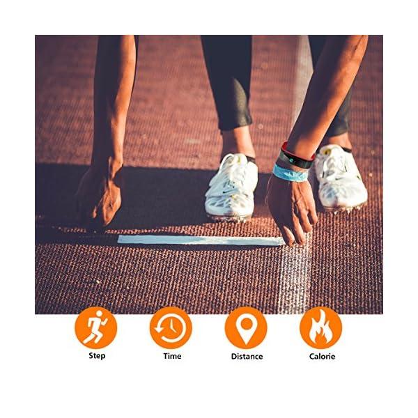 Monitores de Actividad, Vigorun Fitness Tracker Smart Pulsera con Monitor de frecuencia cardíaca Pulsera Inteligente… 9
