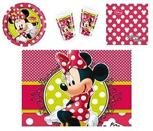 Procos 412279 - Kinderpartyset Minnie Fashion, S