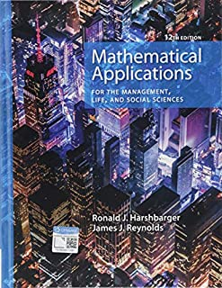 Mathematical Applications for the Management, Life, and Social Sciences (1337625345) | Amazon price tracker / tracking, Amazon price history charts, Amazon price watches, Amazon price drop alerts