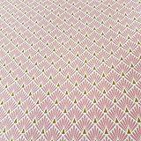 Stoff Meterware Baumwolle rosa Raute Fächer beschichtet