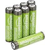 AmazonBasics - Batterie AAA ricaricabili, ad alta capacità, pre-caricate, confezione da 8 (l'aspetto potrebbe variare dall'im